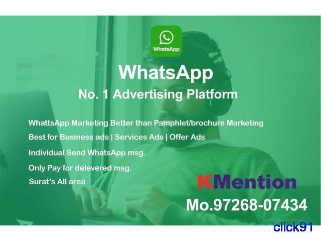 Digital WhatsApp Marketing in Surat By KMention - 1/1