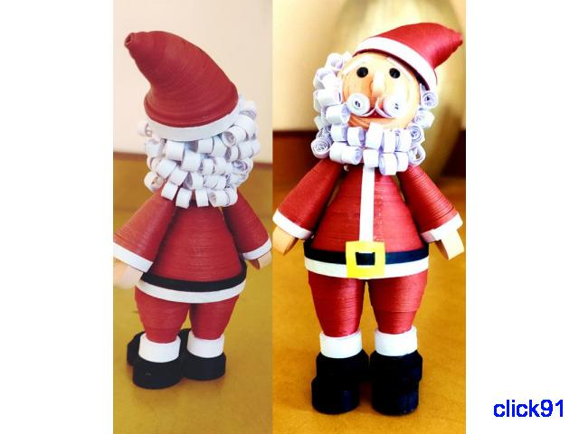 Quilling Santa Claus for gift your Child on Christmas - 1/1